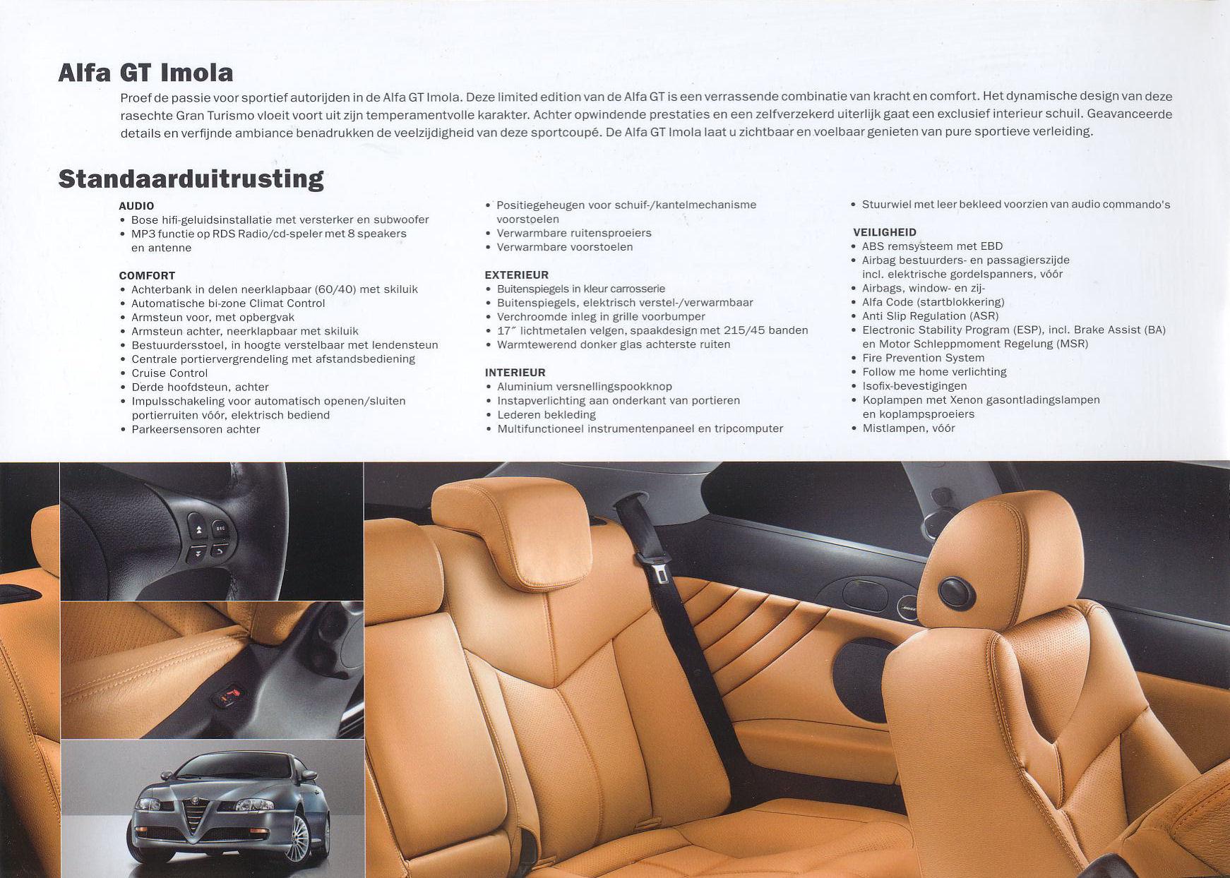 2007 Alfa Romeo GT Imola brochure