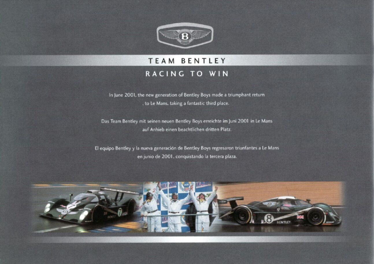 2001 Bentley Brochure