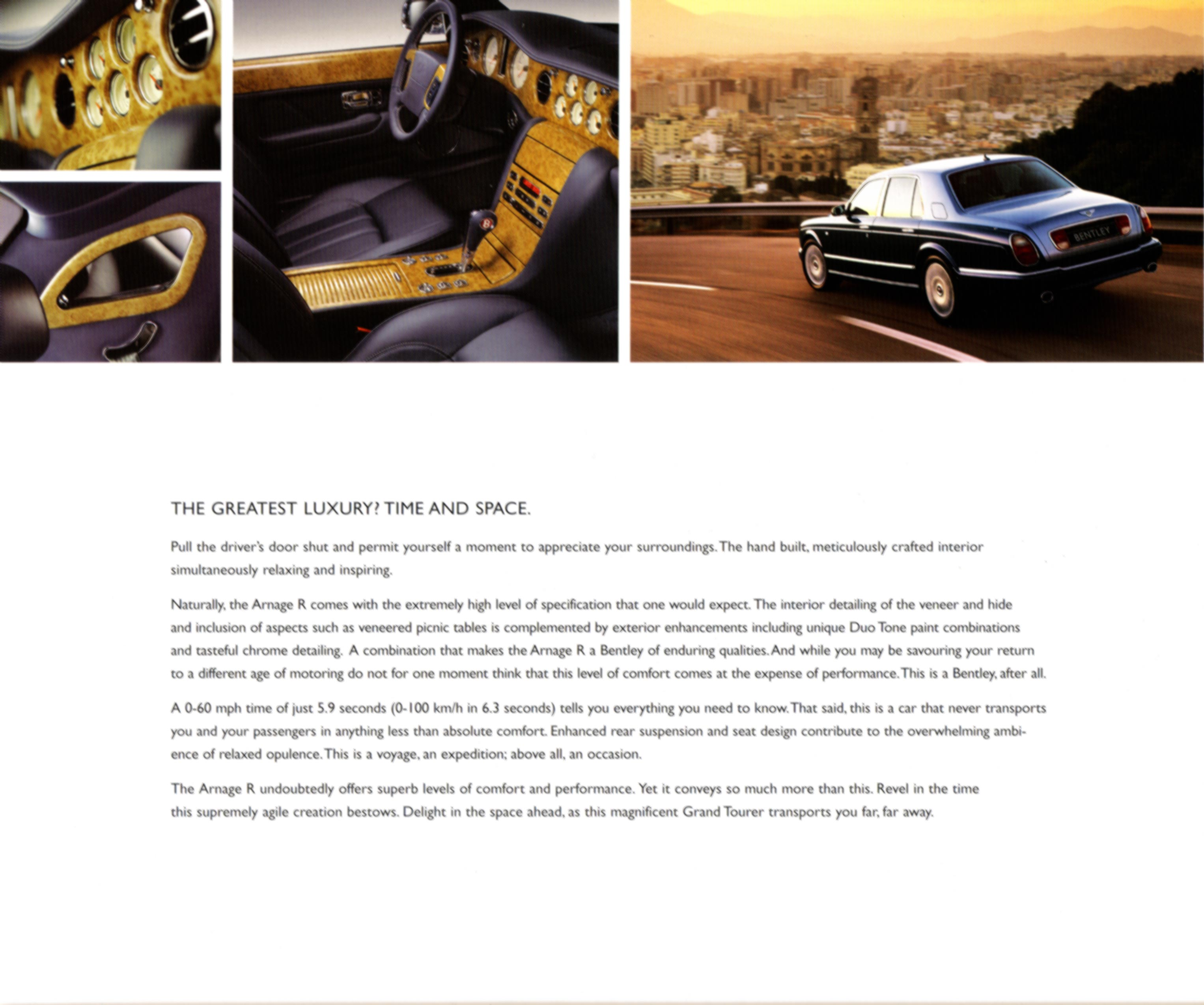 2006 Arnage Bentley Continental Flying Spur Brochure