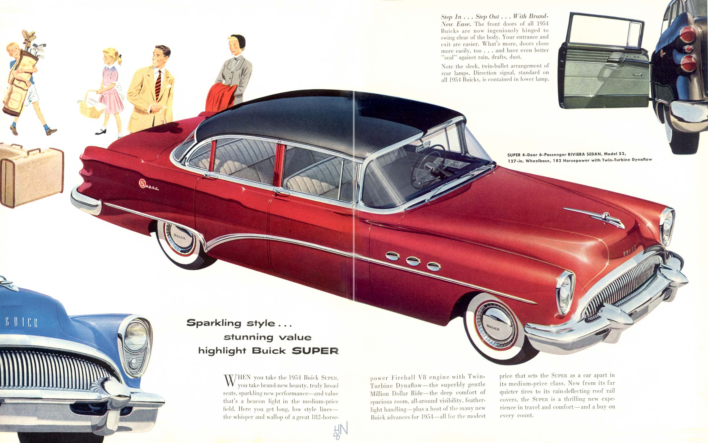 1954 Buick Brochure Riviera Convertible Howard Nourse From The Us Contributed These Scans