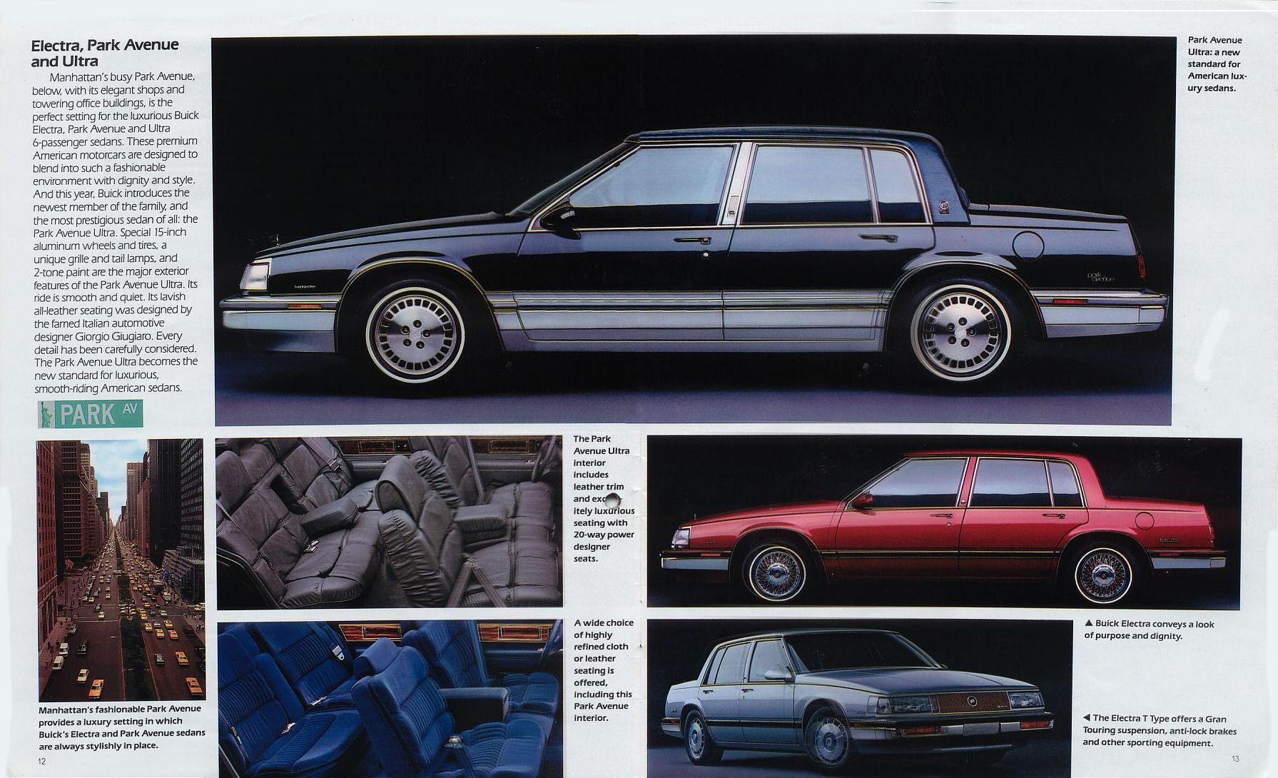 1989 buick brochure. Black Bedroom Furniture Sets. Home Design Ideas