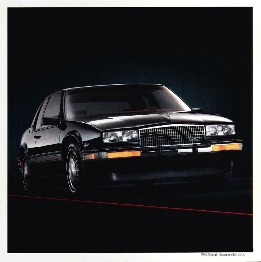 1986 cadillac eldorado brochure free car brochures