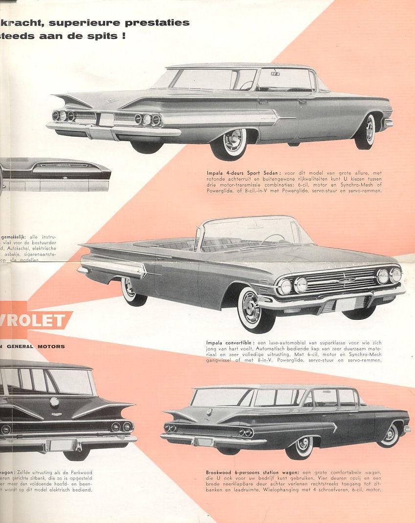 4 Persoons Design Bank.1960 Chevrolet Brochure