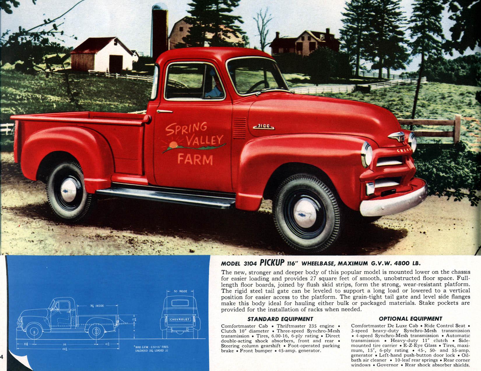 1954 Chevrolet Trucks Brochure Truck Fuel Filters