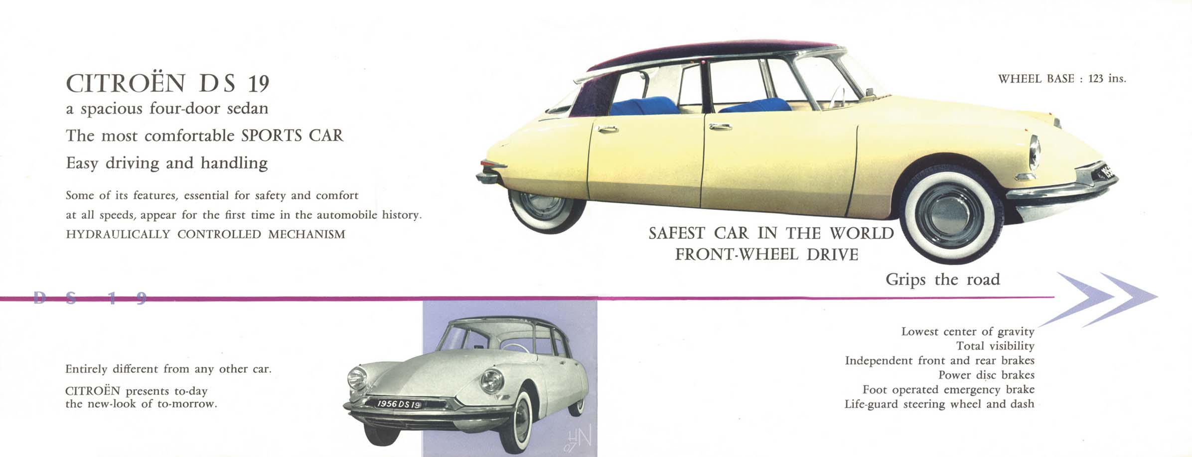 1956 citroen ds 19 brochure citroen ds 1956 howard nourse from the us contributed these scans vanachro Image collections