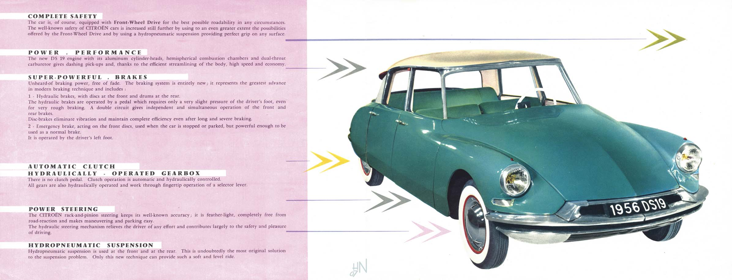 1956 citroen ds 19 brochure vanachro Image collections
