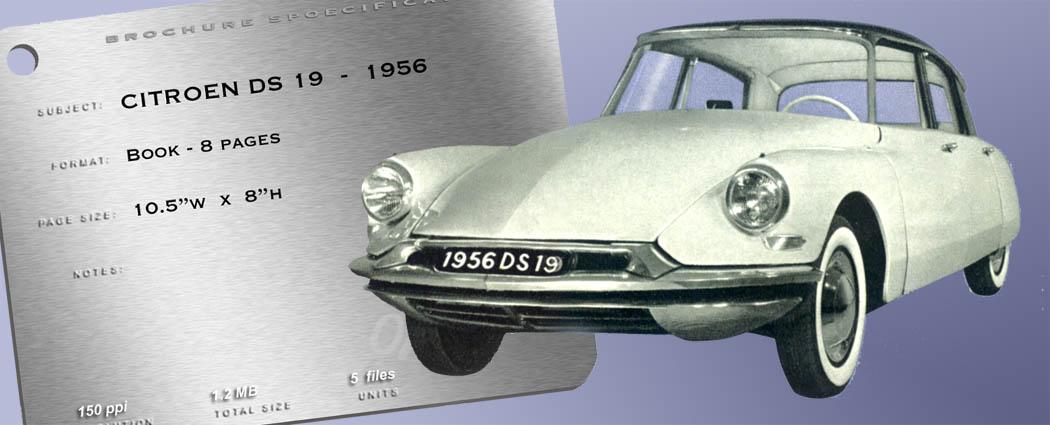 1956 Citroen Ds 19 Brochure