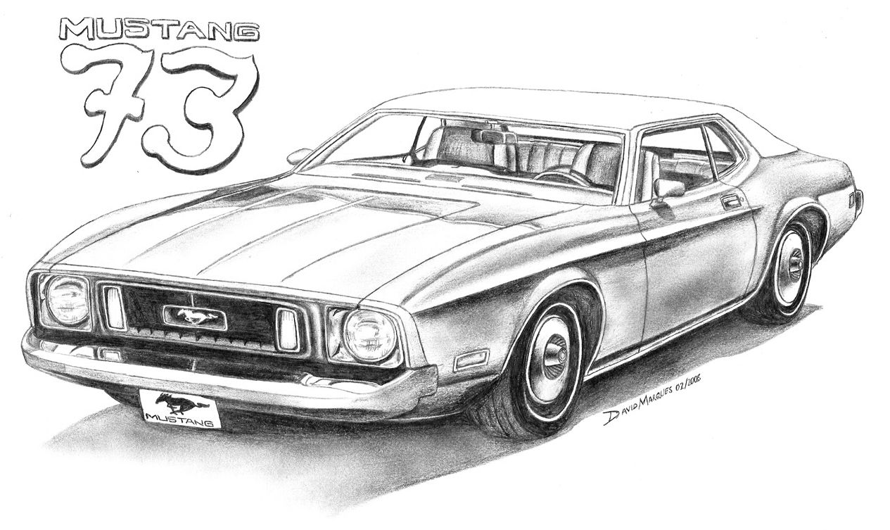 mustang car drawings the image kid has it. Black Bedroom Furniture Sets. Home Design Ideas