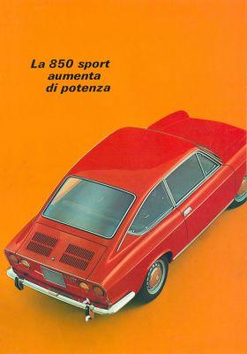 1965 73 Fiat 850 Sport Coupe Brochure