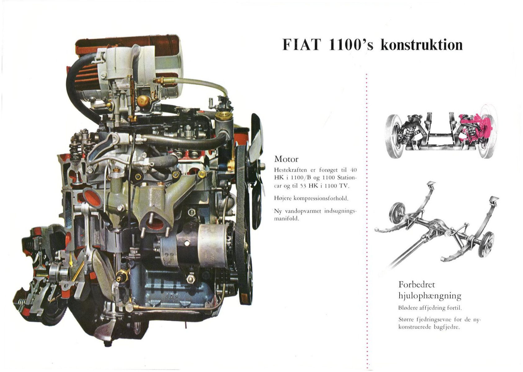1956 Fiat 1100 Brochure