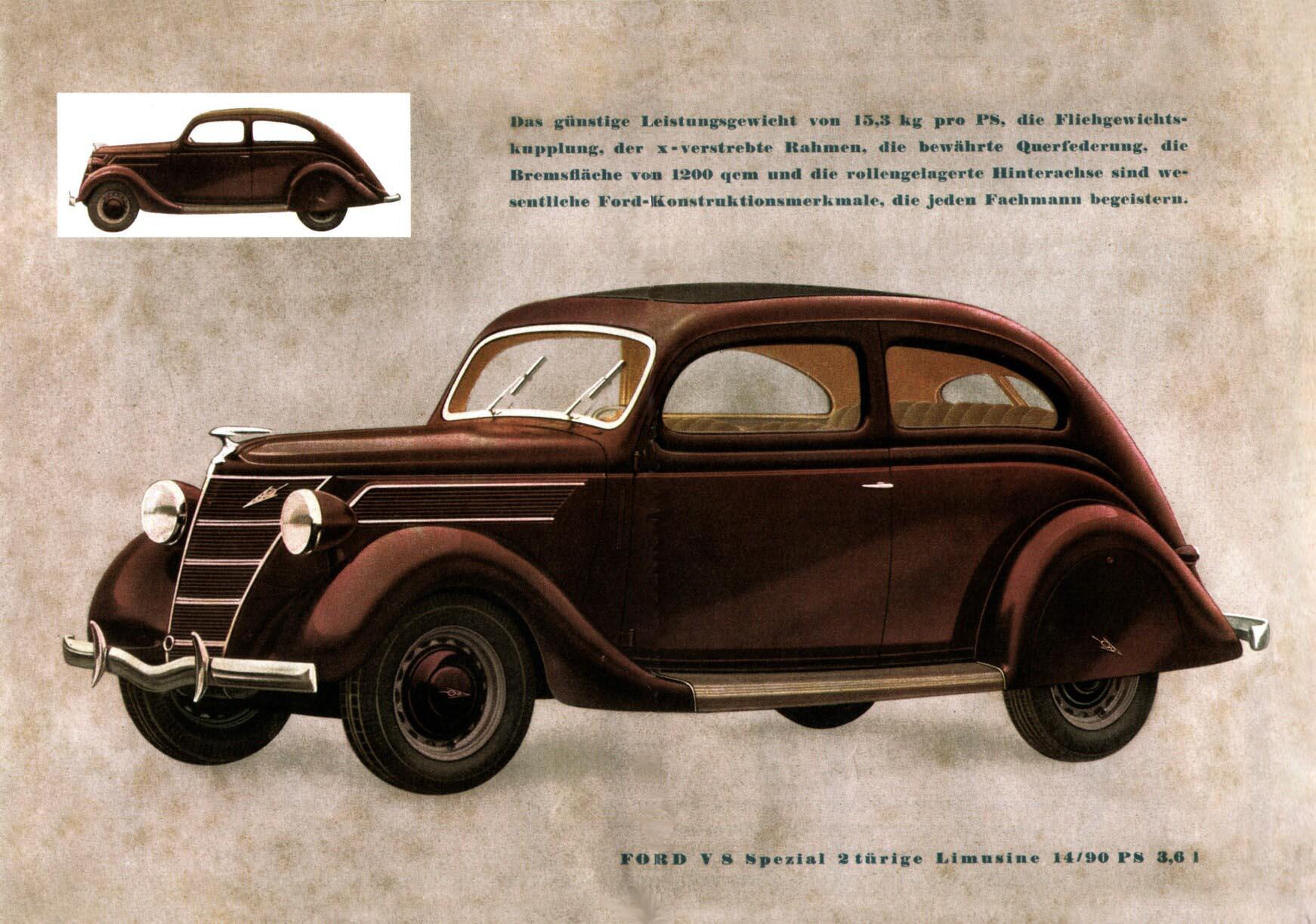 1938 Ford V8 Brochure