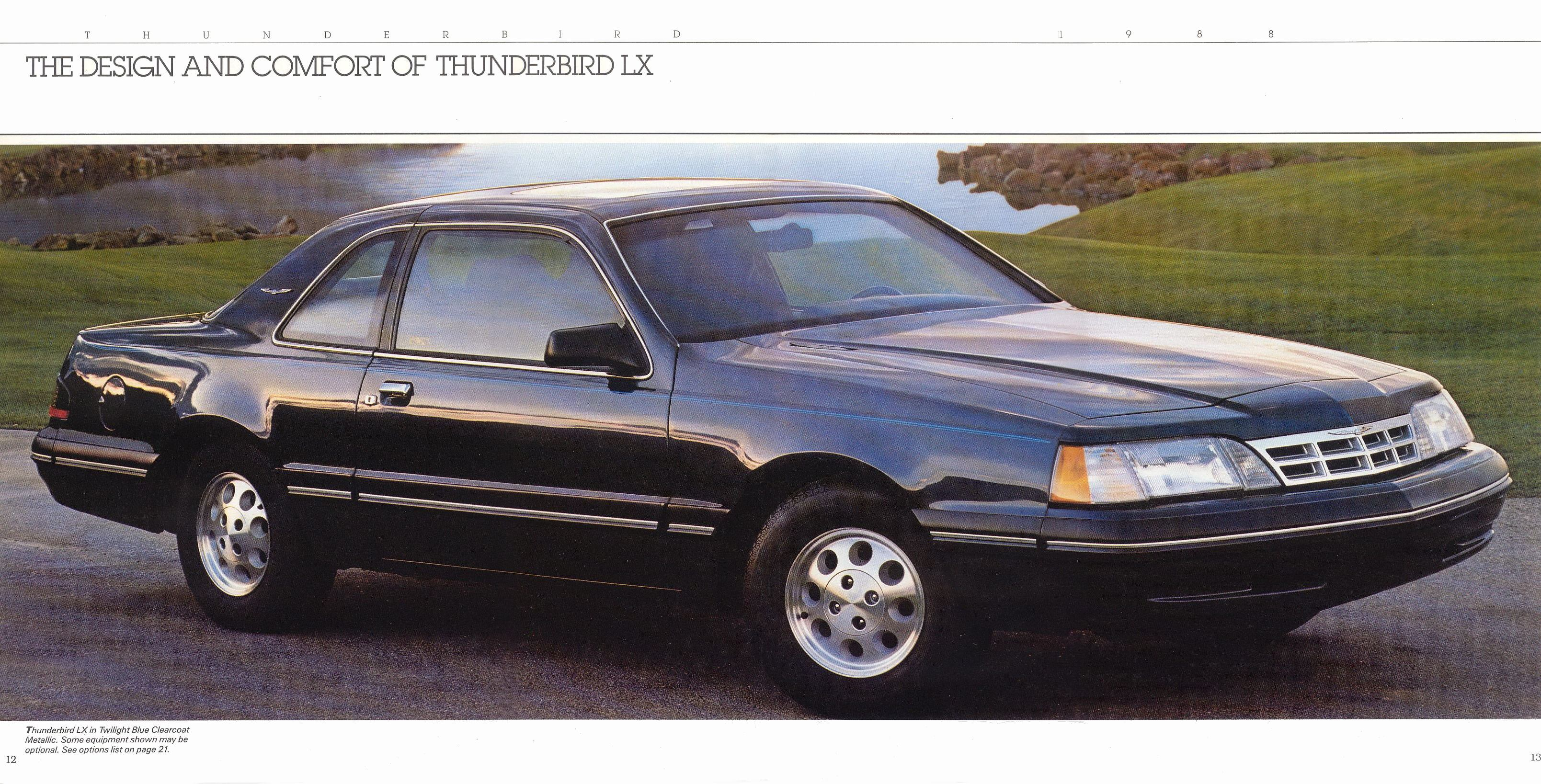 1988 Ford Thunderbird brochure