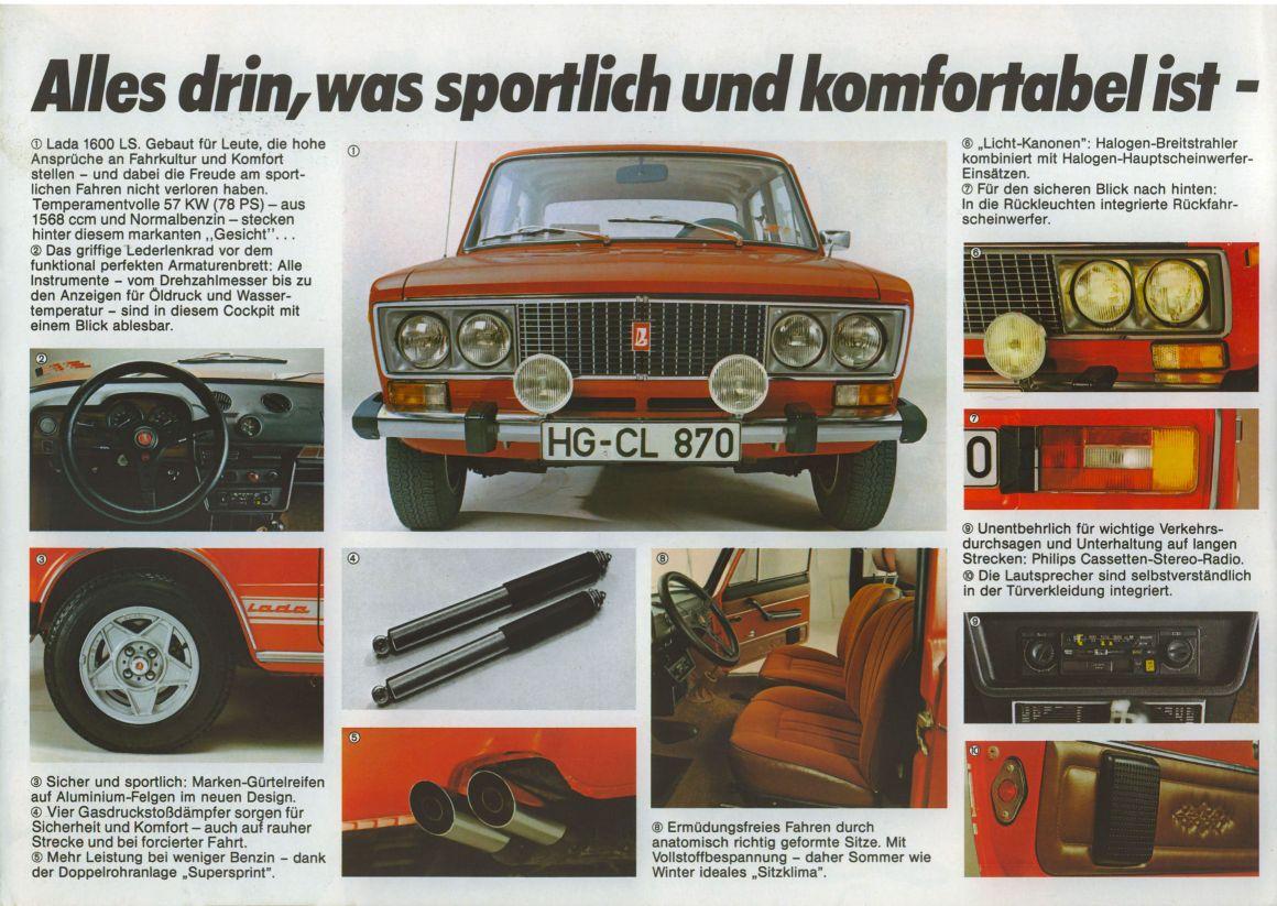 Lada 1600 LS brochure