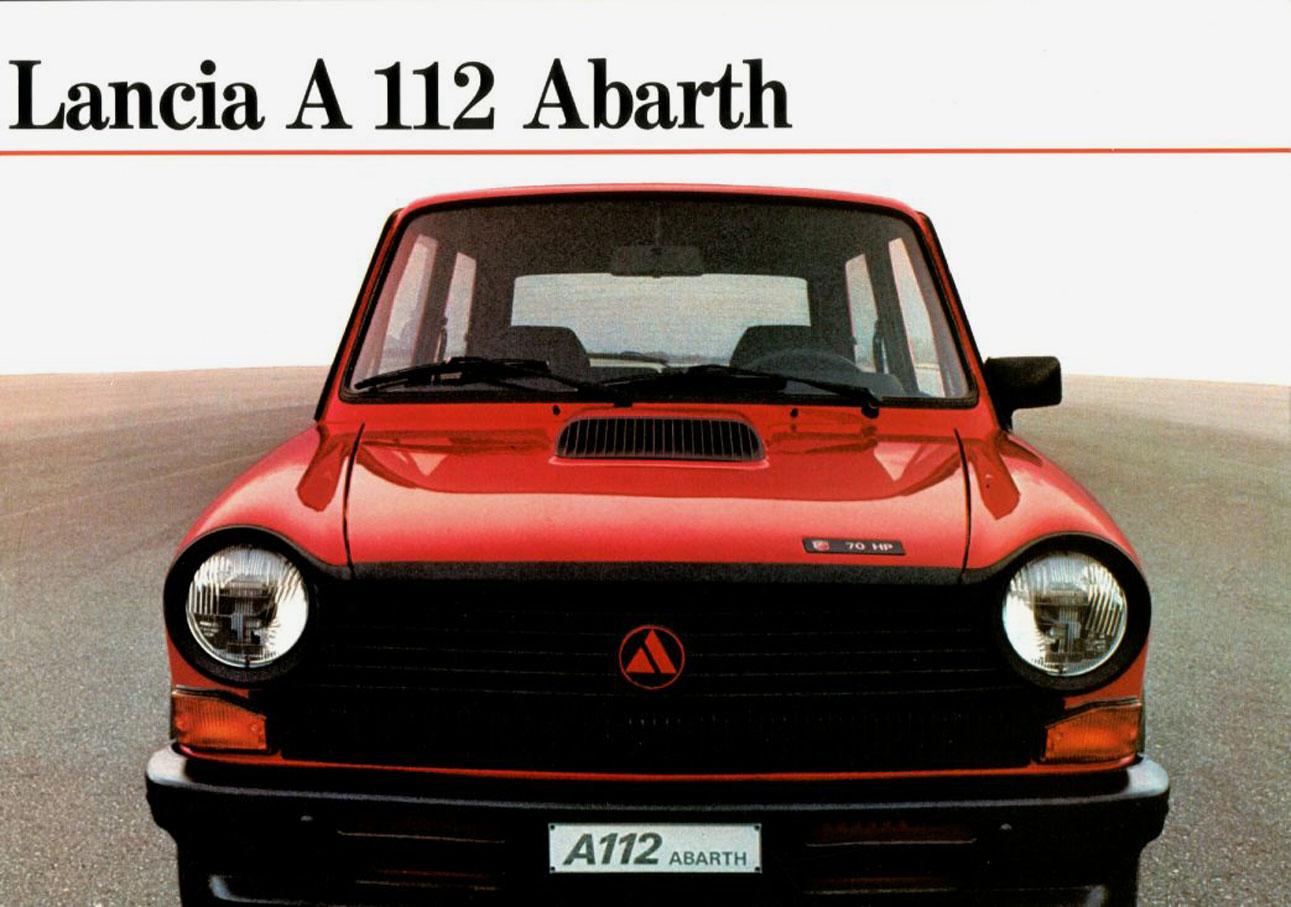 1983 Lancia A112 Abarth Brochure