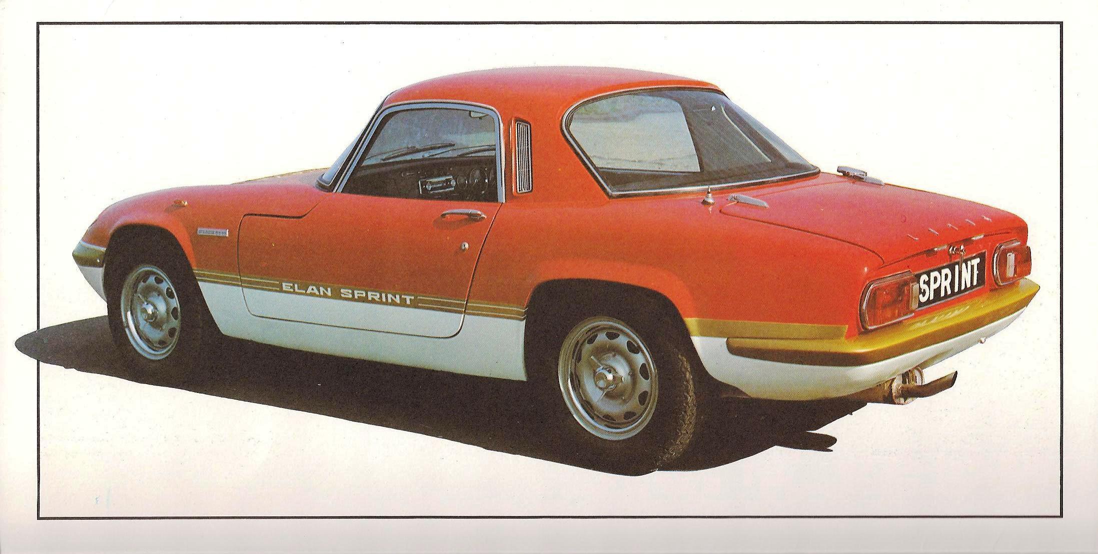 1971 Lotus Elan Sprint Brochure
