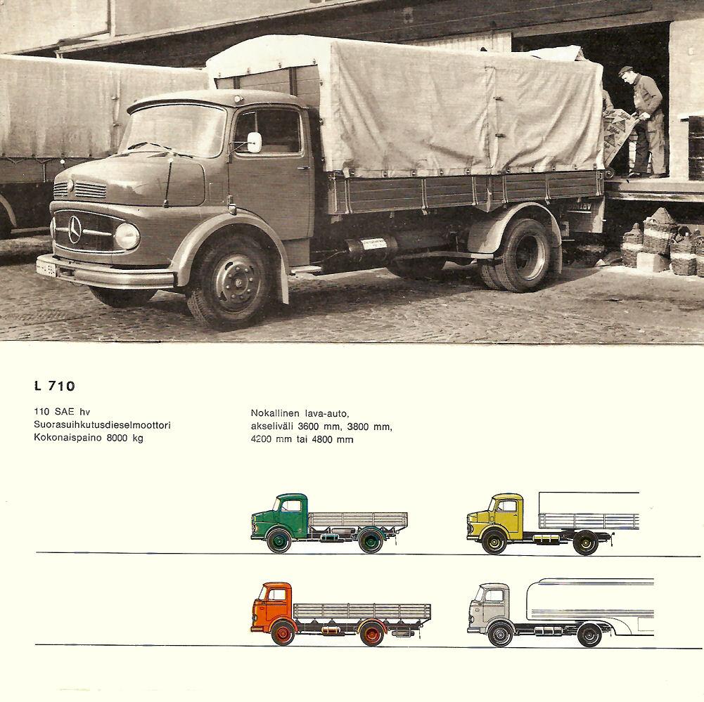 Mercedes-Benz camion semi-remorque machine 1929 as-prospectus brochure 07.1989