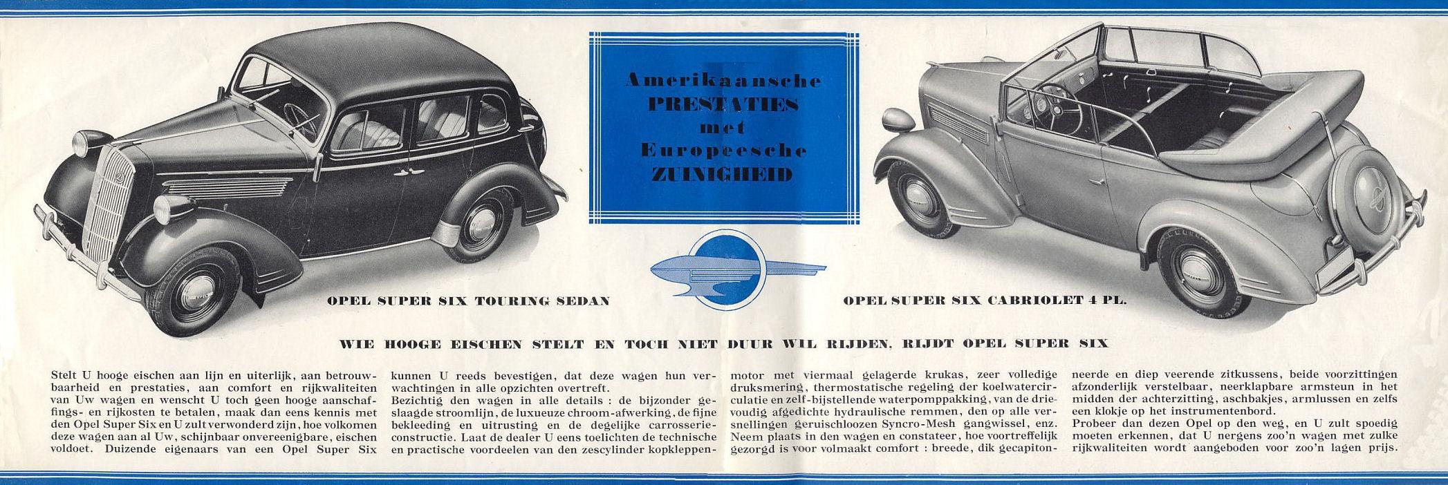 Opel Super 6 2.5 1936-1938