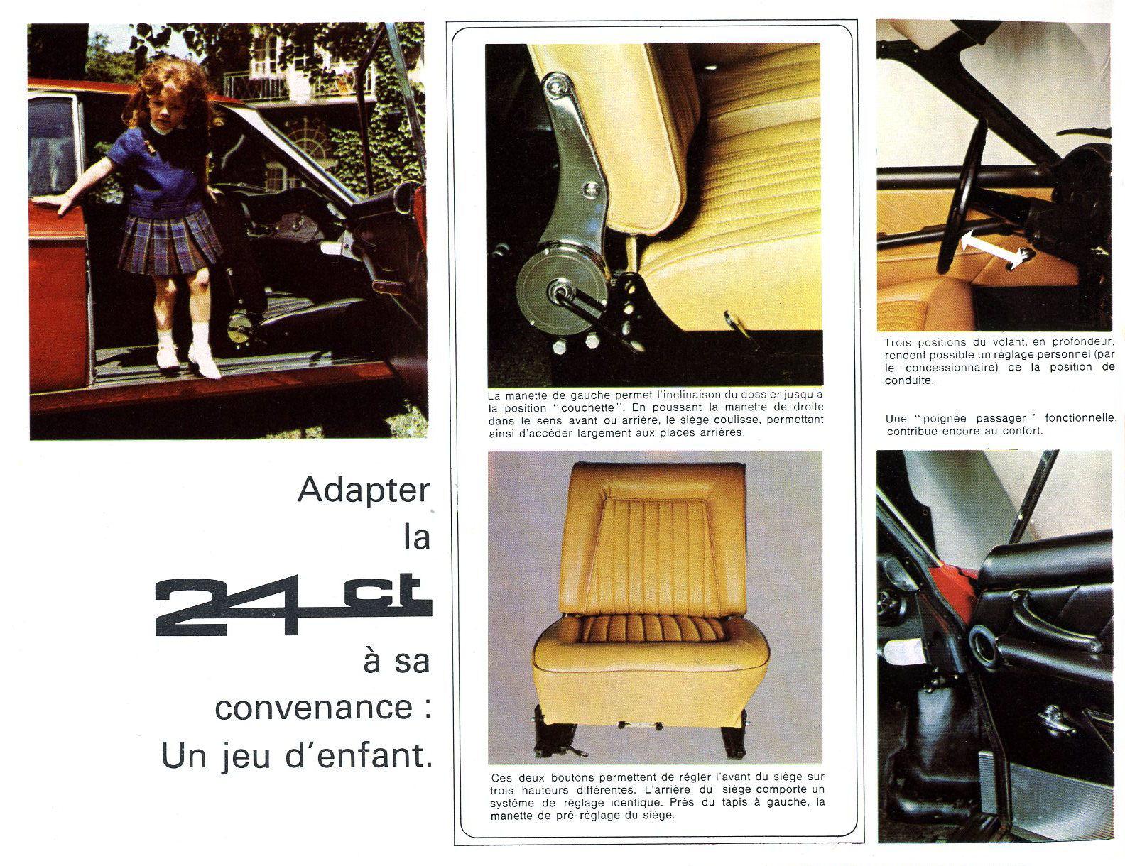1963 Panhard 24 CT brochure