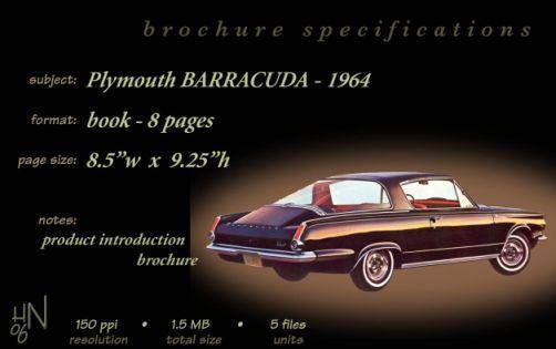 1964 Plymouth Barracuda brochure