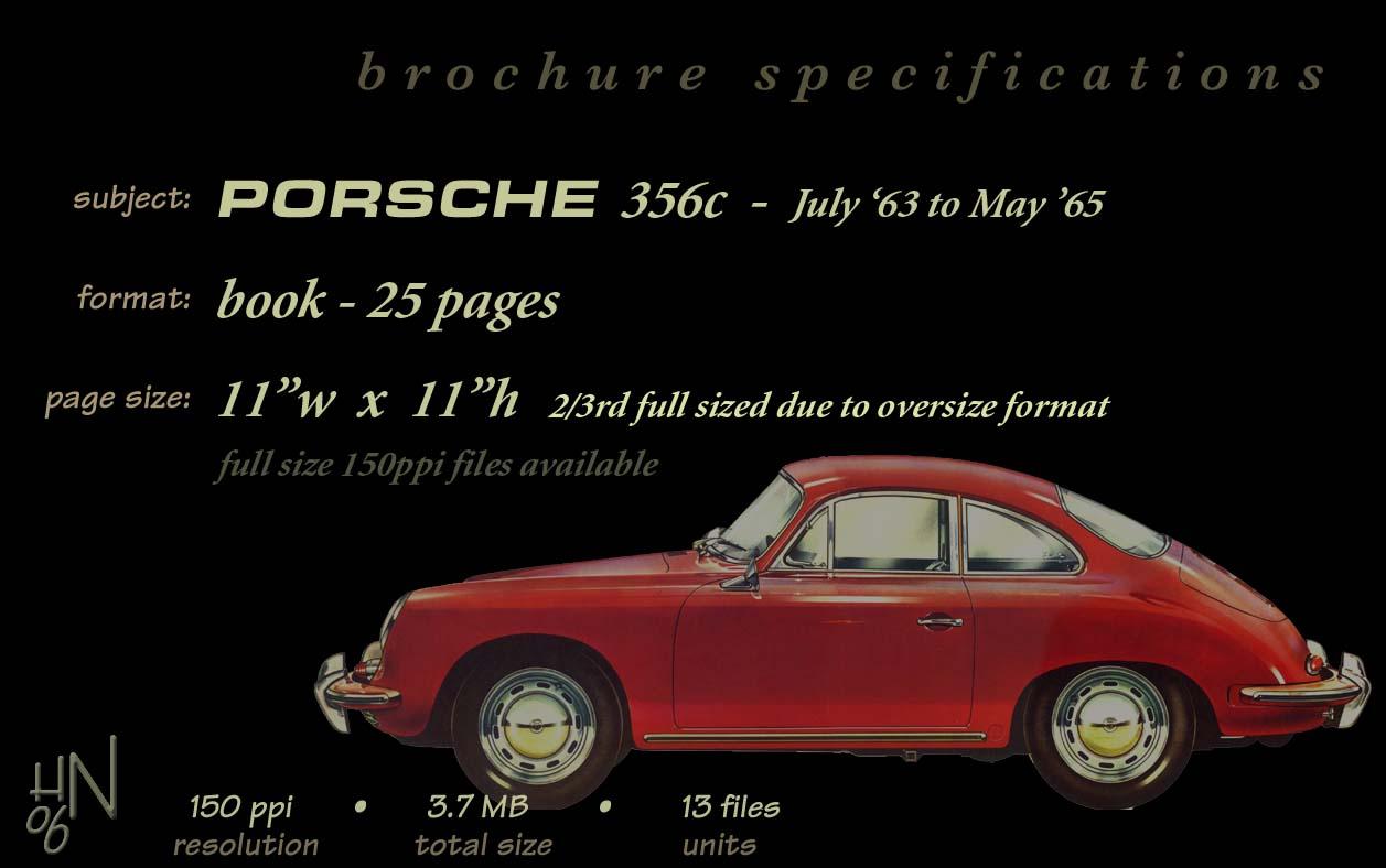 Car Specs >> 1964 Porsche 356 C brochure