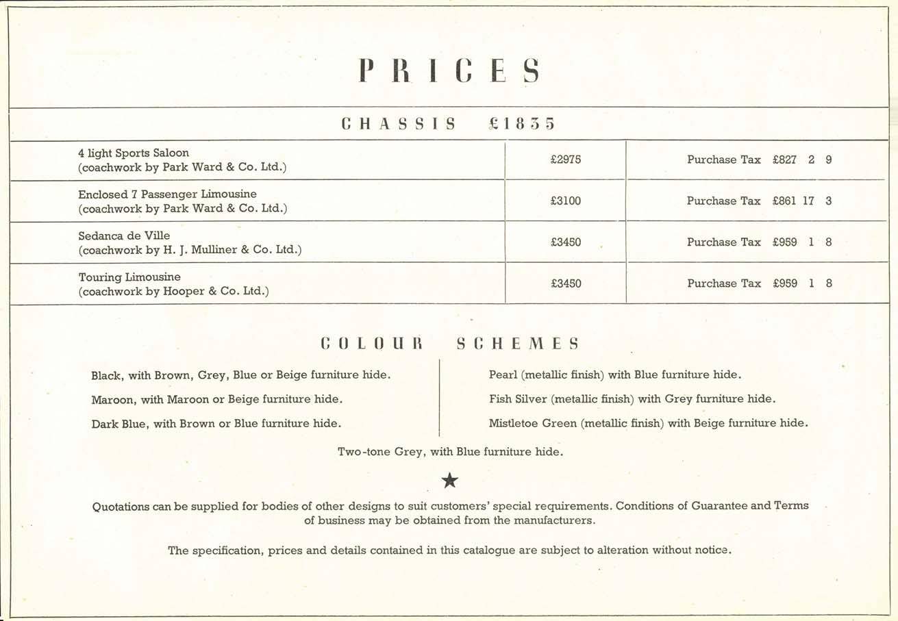 1948 rolls royce brochure
