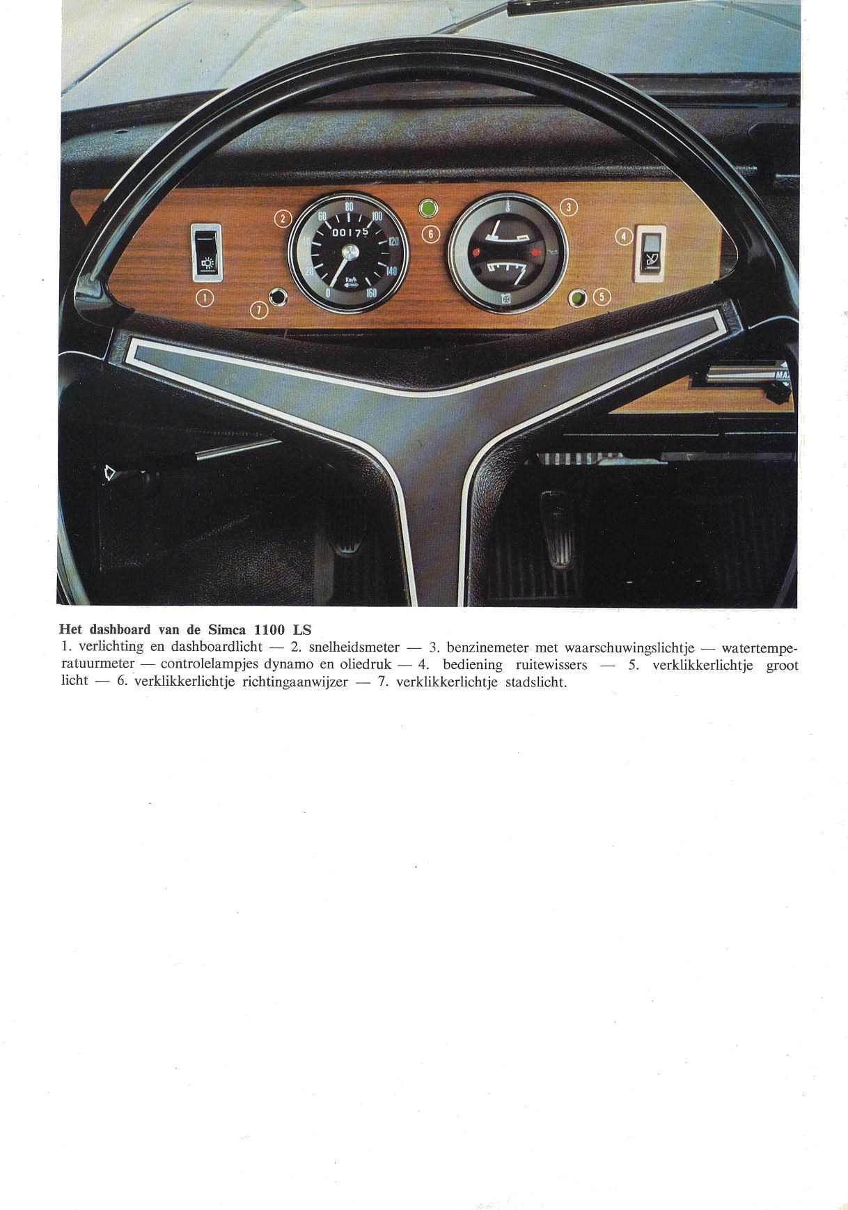 Simca 1100 LS brochure