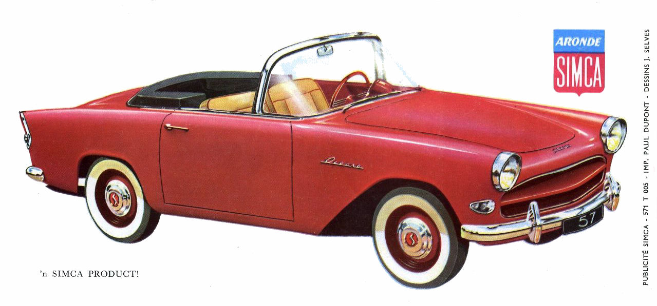 1957 Simca Aronde 1100 Ocean brochure