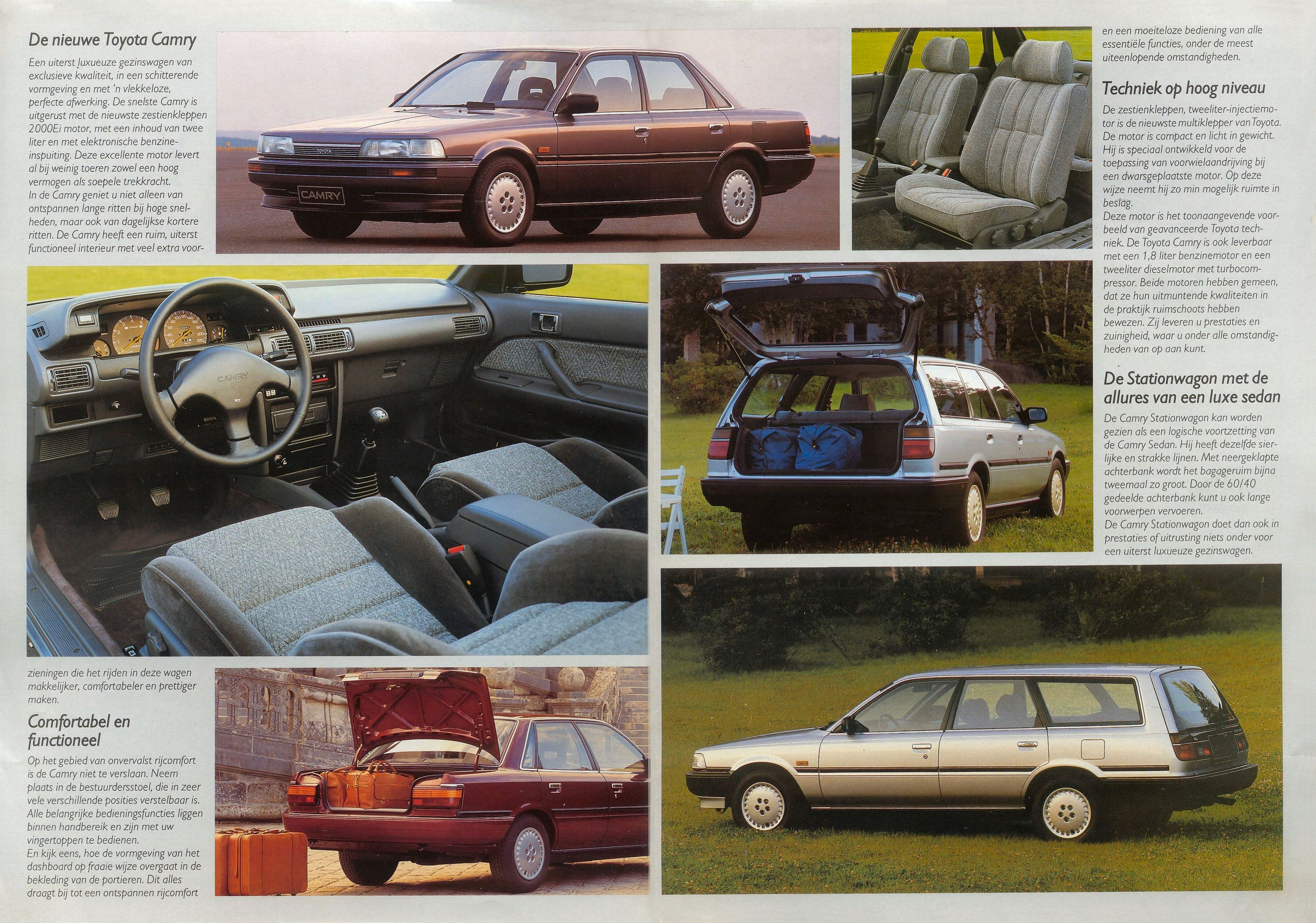 1987 Toyota Camry Brochure