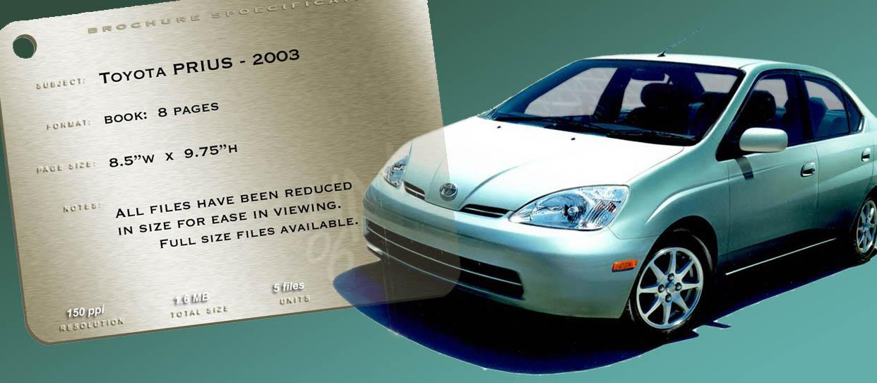 2003 Toyota Prius Brochure
