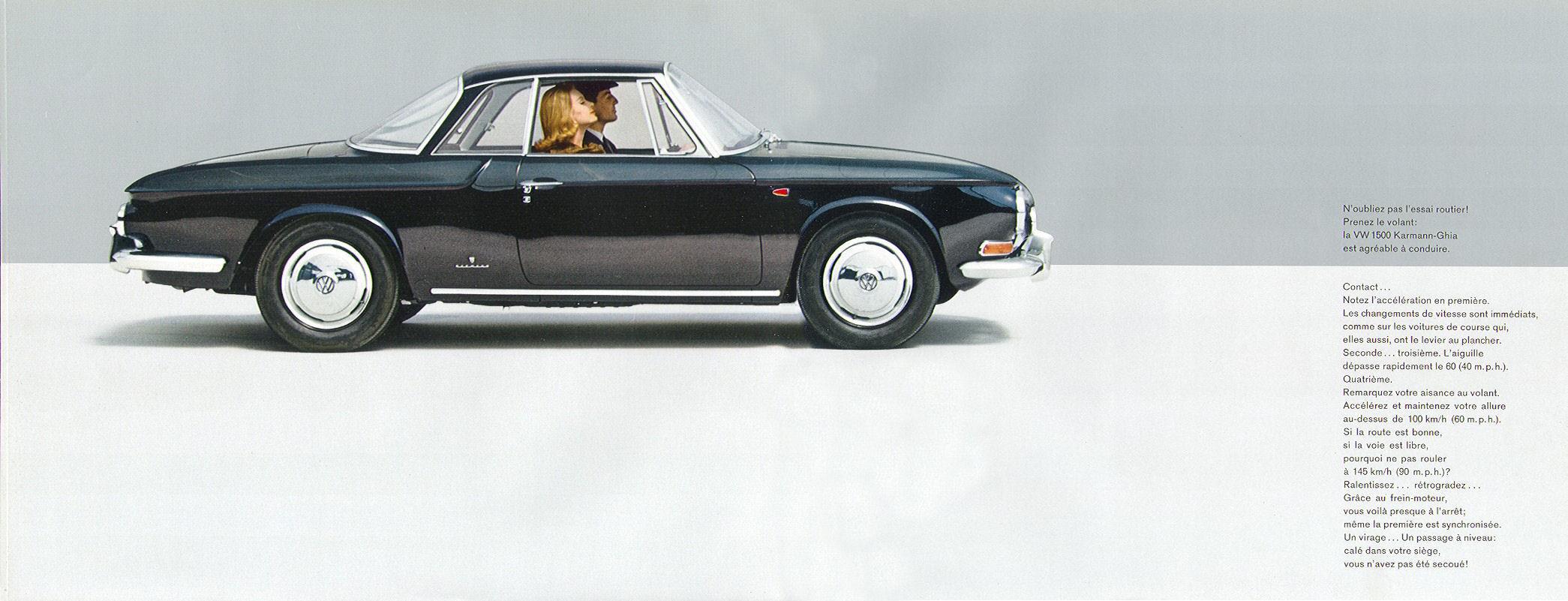 1963 Vw 1500 Karmann Ghia Brochure
